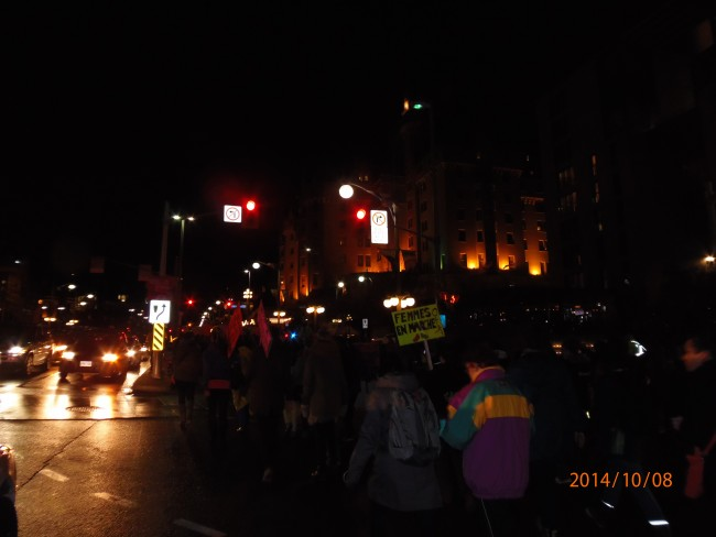 La rue, la nuit, femmes sans peur 2014